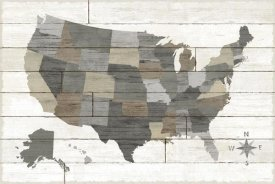 Sue Schlabach - Barnboard Map Neutral no Words