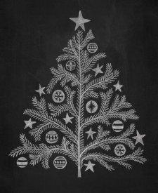 Mary Urban - Chalkboard Holiday Trees II