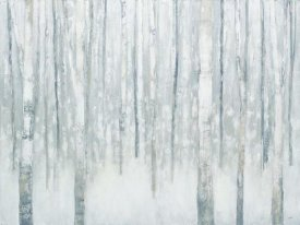 Julia Purinton - Birches in Winter Blue Gray