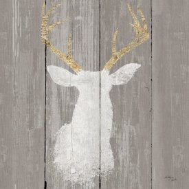 Wellington Studio - Precious Antlers I on Gray Wood