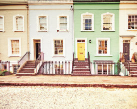 Keri Bevan - Chelsea Houses All Lined Up