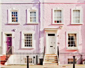 Keri Bevan - London Pink Purple Houses