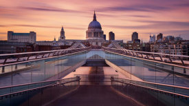 Roland Shainidze - Millennium Bridge Leading Towards St. Paul's Church