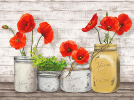 Jenny Thomlinson - Poppies in Mason Jars (detail)