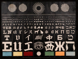 George Mayerle - Multi-Lingual Eye Chart, ca. 1907 - Light Background