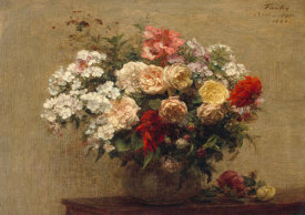 Henri Fantin-Latour - Vase with Summer Flowers
