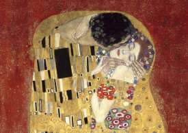 Gustav Klimt - The Kiss, detail (Red variation)