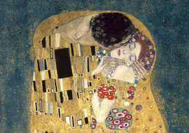 Gustav Klimt - The Kiss, detail (Blue variation)