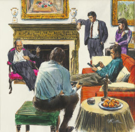 Mort Kunstler - Corleone Family Meeting