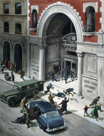 Mort Kunstler - The Daring Daylight Robbery of the US Mint