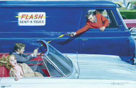 Mort Kunstler - High-Speed Shootout