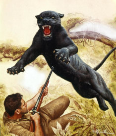 Mort Kunstler - Black Leopard of Sand Mountain