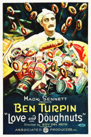 Hollywood Photo Archive - Ben Turpin, Love and Donuts, 1921