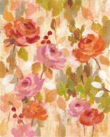 Silvia Vassileva - Pink and Orange Brocade I