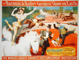 Hollywood Photo Archive - The Barnum & Bailey Greatest Show On Earth - Miss Rose Meers, The Greatest Living Lady Rider - 1897