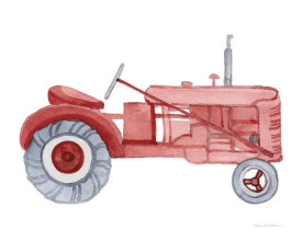 Kathleen Parr McKenna - Life on the Farm Tractor Element