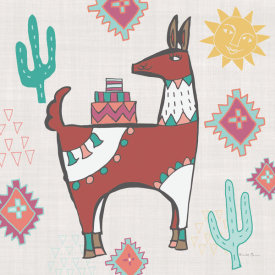 Farida Zaman - Playful Llamas IV
