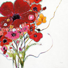 Jan Griggs - Crazy Daisy on White