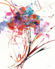 Jan Griggs - Floral Explosion I on White