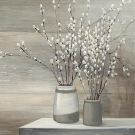 Julia Purinton - Pussy Willow Still Life Gray Pots Crop