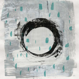 Melissa Averinos - Zen Circle I Crop with Teal