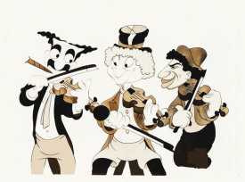 Hollywood Photo Archive - Marx Brothers - Cartoon - Fiddling