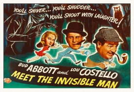 Hollywood Photo Archive - Abbott & Costello - Meet The Invisible Man Poster