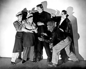 Hollywood Photo Archive - Abbott & Costello - Promotional Still with Frankenstein, Dracula and Wolfman