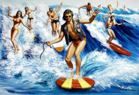 Mort Kunstler - The Hell Surfers