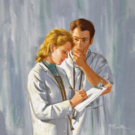 Mort Kunstler - The Doctor's Second Love