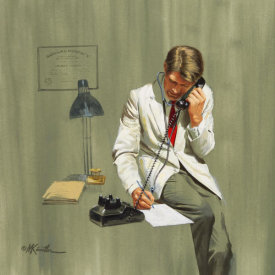 Mort Kunstler - The Two Faces of Dr. Collier