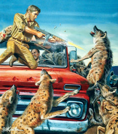 Mort Kunstler - Night of the Hyenas