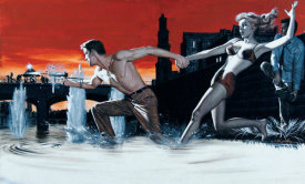 Mort Kunstler - The Last Yank on Singapore