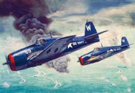 Mort Kunstler - W2-010 - F6F Hellcats to the Attack