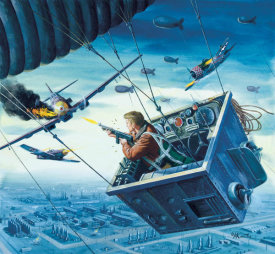 Mort Kunstler - The Commando's Strange Attack Balloon