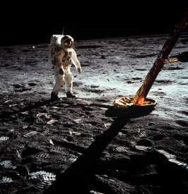 NASA Archive Photo - Buzz Aldrin Walking on the Moon