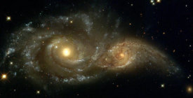 NASA Archive Photo - A Grazing Encounter Between Two Spiral Galaxies