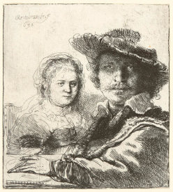 Rembrandt van Rijn - Rembrandt and His Wife Saskia, 1636