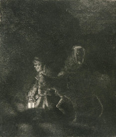 Rembrandt van Rijn - The Flight into Egypt: A Night Piece, 1651
