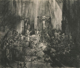 Rembrandt van Rijn - Christ Crucified between the Two Thieves (The Three Crosses), 1653