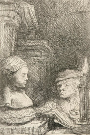 Rembrandt van Rijn - Man Drawing from a Cast, ca. 1641