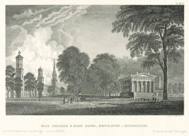 Timothy Cole - Yale College and State House, New Haven, Connecticut, 1845
