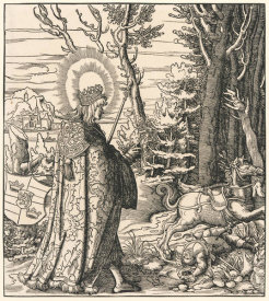 Timothy Cole - Saint Pharahildis Looking Upon a Dead Soldier, 16th century