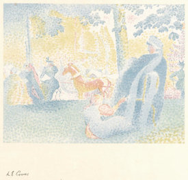 Henri Edmond Cross - Aux Champs Elysees, 1898