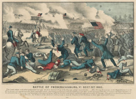 Currier & Ives - Battle of Fredericksburg, Va 1862