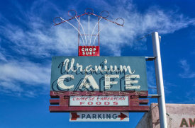 John Margolies - Uranium Cafe Chinese sign, Route 66, Grants, New Mexico