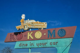 John Margolies - Ko-Ko-Mo Dine In Your Car sign, Routes 79 and 80, Bossier City, Louisiana