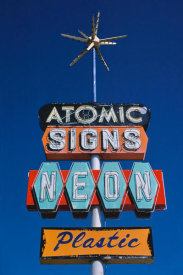 John Margolies - Atomic Signs sign, Route 550, Farmington, New Mexico
