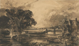 John Constable - River Stour, Suffolk, 19th century
