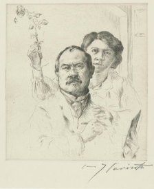 Lovis Corinth - Self-Portrait with His Wife, 1904